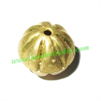 Fine Quality Hollow Metal Beads, size: 16mm
