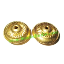 Fine Quality Hollow Metal Beads, size: 11x20mm
