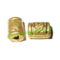 Fine Quality Hollow Metal Beads, size: 8x11mm