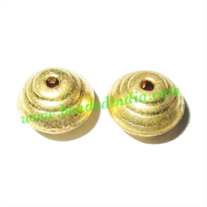 Fine Quality Hollow Metal Beads, size: 7x10mm
