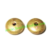 Fine Quality Hollow Metal Beads, size: 4x10mm