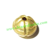 Fine Quality Hollow Metal Beads, size: 8x10mm