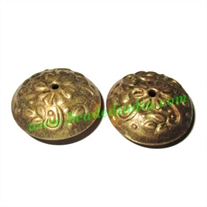 Fine Quality Hollow Metal Beads, size: 14x29mm