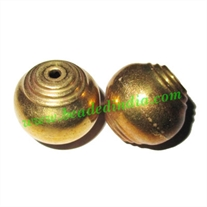 Fine Quality Hollow Metal Beads, size: 19x20mm