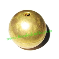 Fine Quality Hollow Metal Beads, size: 24mm