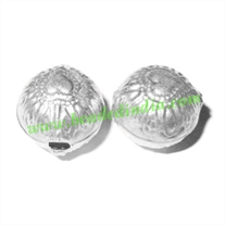 Fine Quality Hollow Metal Beads, size: 12x14mm