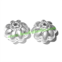 Fine Quality Hollow Metal Beads, size: 14x17mm