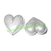 Fine Quality Hollow Metal Beads, size: 12x26mm