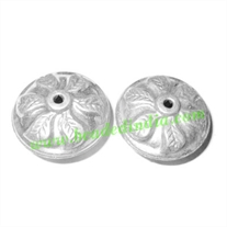 Fine Quality Hollow Metal Beads, size: 13x25mm