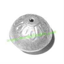 Fine Quality Hollow Metal Beads, size: 20x25mm