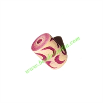 Wooden Carved Beads, size 10x15mm, weight approx 0.94 grams