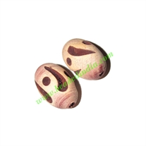 Wooden Carved Beads, size 15x25mm, weight approx 1.73 grams