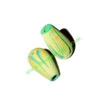 Wooden Carved Beads, size 12x22mm, weight approx 1.26 grams