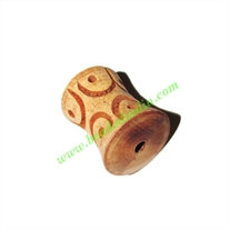 Wooden Carved Beads, size 16x20mm, weight approx 2.1 grams