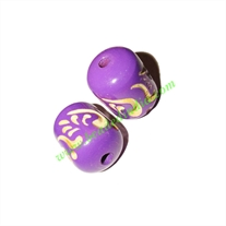 Wooden Carved Beads, size 16x22mm, weight approx 2.65 grams