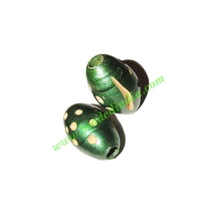 Wooden Carved Beads, size 11x18mm, weight approx 0.82 grams