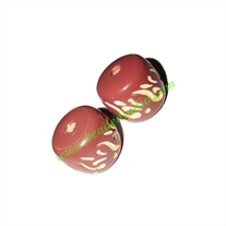 Wooden Carved Beads, size 17x20mm, weight approx 2.75 grams