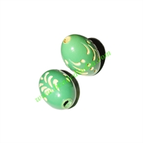 Wooden Carved Beads, size 15x22mm, weight approx 2.15 grams