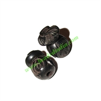 Wooden Ebony Beads, color black, size 15x22mm, weight approx 2.92 grams