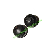 Wooden Ebony Beads, color black, size 15mm, weight approx 2.12 grams