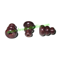 Rosewood Guru Beads Tube Carved, size 11x9mm, weight approx 0.5 grams