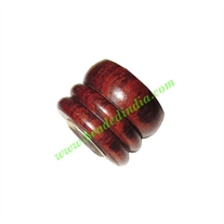 Handmade Fancy Wooden Beads, size 12x15mm, weight approx 2.02 grams