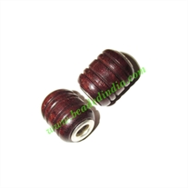 Handmade Fancy Wooden Beads, size 13x16mm, weight approx 2.23 grams