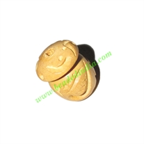 Natural Color Wooden Beads, size 17x23mm, weight approx 2.69 grams