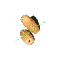 Natural Color Wooden Beads, size 9x19mm, weight approx 0.56 grams