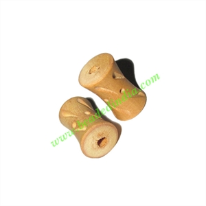 Natural Color Wooden Beads, size 12x20mm, weight approx 1.1 grams