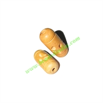Natural Color Wooden Beads, size 10x24mm, weight approx 1.21 grams