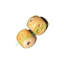 Natural Color Wooden Beads, size 14x18mm, weight approx 1.64 grams