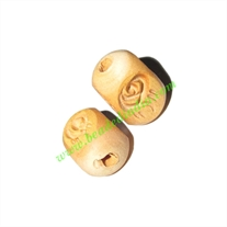 Natural Color Wooden Beads, size 12x18mm, weight approx 1.27 grams