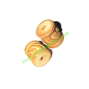 Natural Color Wooden Beads, size 15x18mm, weight approx 1.81 grams