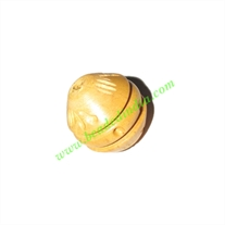Natural Color Wooden Beads, size 15x16mm, weight approx 1.25 grams