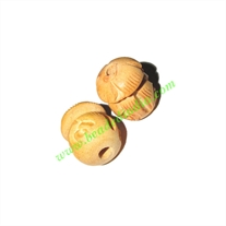 Natural Color Wooden Beads, size 15x19mm, weight approx 1.51 grams
