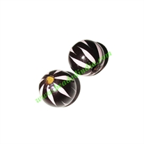 Wooden Painted Beads, Fancy Design Hand-painted beads, size 17mm, weight approx 1.7 grams