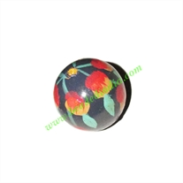 Wooden Painted Beads, Fancy Design Hand-painted beads, size 25mm, weight approx 6.42 grams