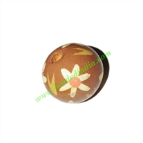 Wooden Painted Beads, Fancy Design Hand-painted beads, size 20mm, weight approx 2.95 grams