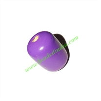 Wooden Dyed Beads, painted in one color, size 16x22mm, weight approx 2.87 grams