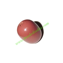 Wooden Dyed Beads, painted in one color, size 15x20mm, weight approx 2.28 grams