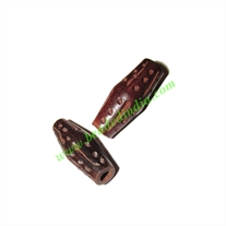 Rosewood Beads, Handcrafted designs, size 10x26mm, weight approx 1.35 grams
