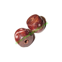 Rosewood Beads, Handcrafted designs, size 15x17mm, weight approx 3.1 grams