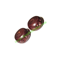 Rosewood Beads, Handcrafted designs, size 11x18mm, weight approx 2.75 grams