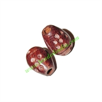 Rosewood Beads, Handcrafted designs, size 13x19mm, weight approx 2.32 grams
