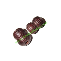 Rosewood Beads, Handcrafted designs, size 13x20mm, weight approx 2.38 grams