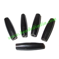 Horn Hairpipes Black, size 1.5 inch, weight 1.2 grams, pack of 100 pcs.