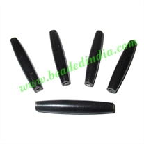 Horn Hairpipes Black, size 2.5 inch, weight 5 grams, pack of 100 pcs.