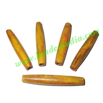 Horn Hairpipes Natural Color, size 2.5 inch, weight 5 grams, pack of 100 pcs.