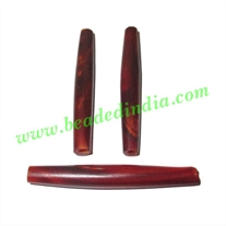 Horn Hairpipes Red, size 2.0 inch, weight 2.5 grams, pack of 100 pcs.